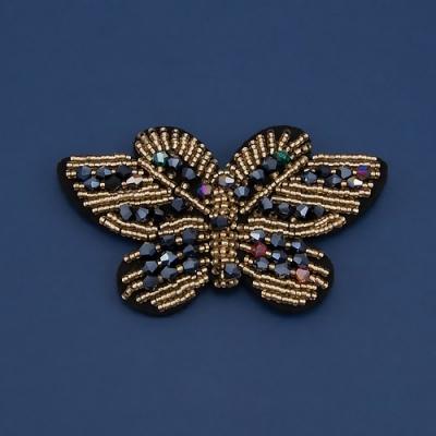 Брошь на войлоке бабочка