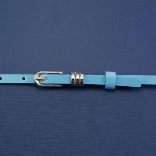 Ремень голубой никель