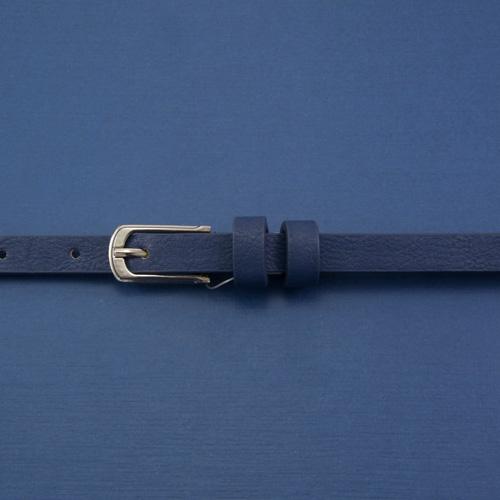 Ремень синий никель