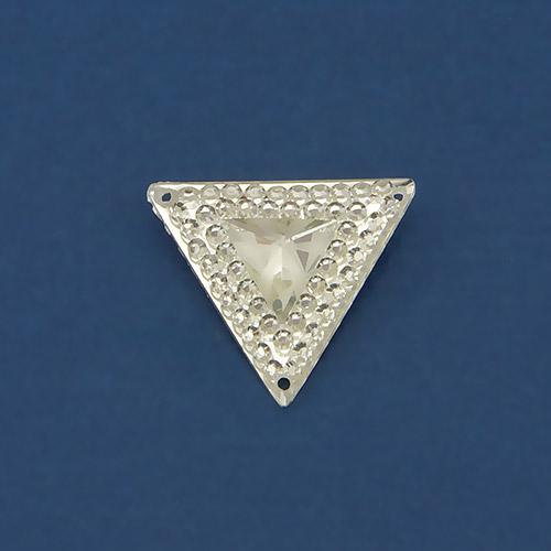 Страз пластик треугольник ежик белый 3