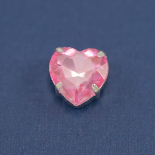 Страз стекло сердце розовый
