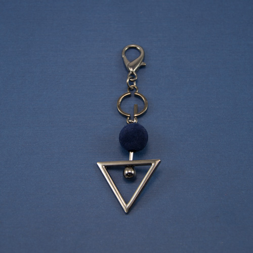 Украшение подвеска геометрия оксид с синим шаром