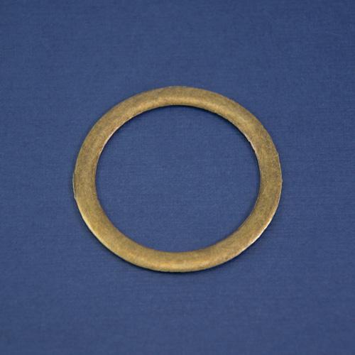 кольцо широкое латунь