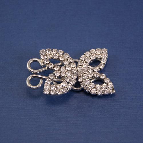 Застежка бабочка никель
