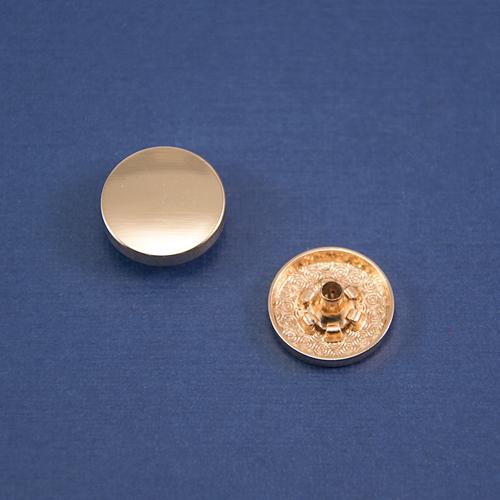 Кнопка гладкая установочная золото