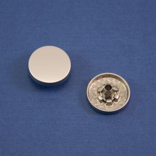 Кнопка гладкая установочная мат никель
