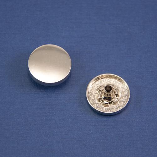 Кнопка гладкая установочная никель