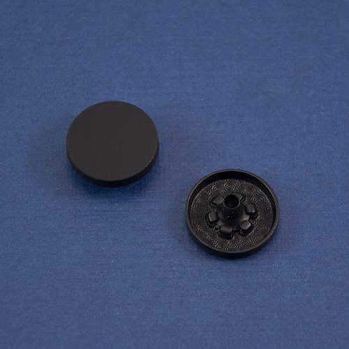 Кнопка гладкая установочная черный