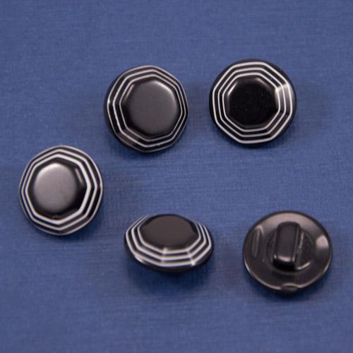 Пуговица CZ-2531-черный;-13